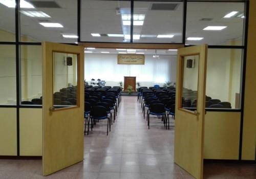 entrata sala culto